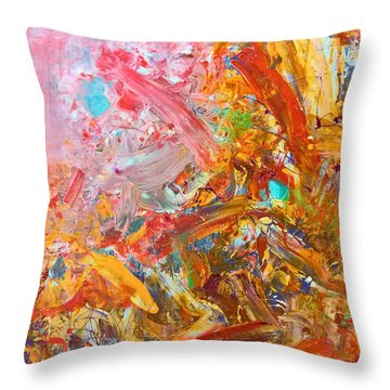 Wet Abstract #91517 Throw Pillow