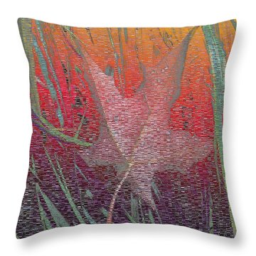 Wet And Wild Autumn Throw Pillow by Tim Allen