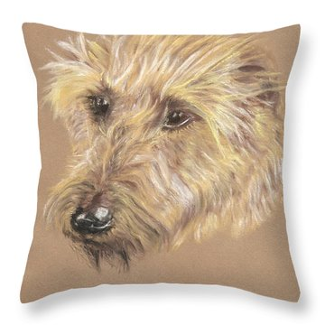 Wet Beard Throw Pillow