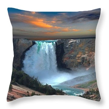 Wet Beauty Throw Pillow