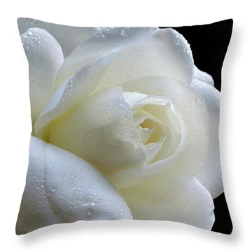 Wet Beauty. Throw Pillow by Terence Davis