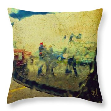 Wet Day Reflections Throw Pillow