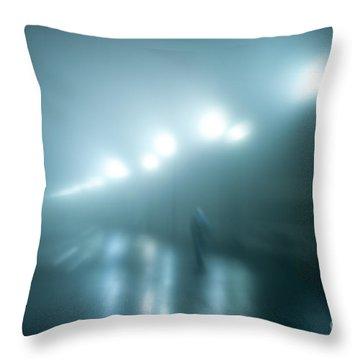 Wet Foggy Night Throw Pillow by John Greim