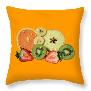 Throw Pillow featuring the photograph Wet Fruit by Shane Bechler