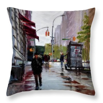Wet Morning, Early Spring Throw Pillow by Peter Salwen