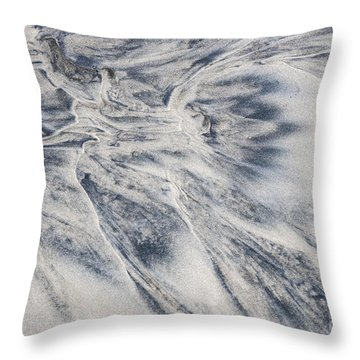 Wet Sand Abstract II Throw Pillow