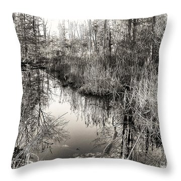 Wetland Essence Throw Pillow