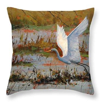 Herons Throw Pillows