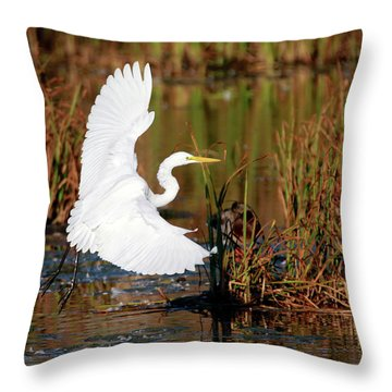 Wetland Landing Throw Pillow