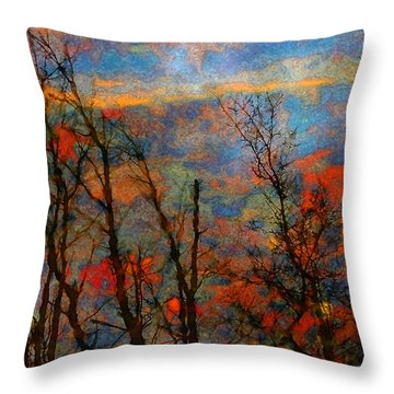 Wetland Reflections 49 Playful Throw Pillow by Mary Bedy