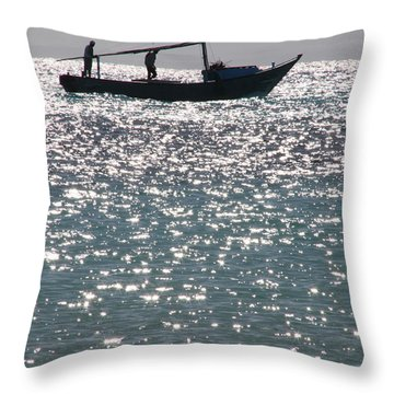 Throw Pillow featuring the photograph We've Done Our Eve by Jez C Self