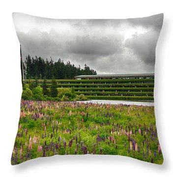 Throw Pillow featuring the photograph Weyerhaeuser Headquarters by Dan McManus