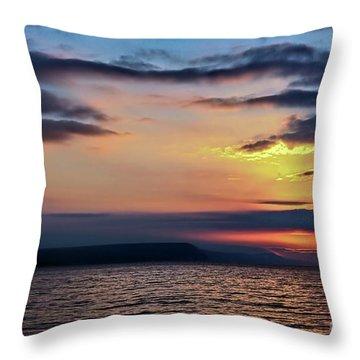 Weymouth Esplanade Sunrise Throw Pillow
