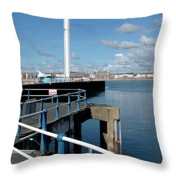 Weymouth Pavillion Pier And Tower Throw Pillow by Baggieoldboy