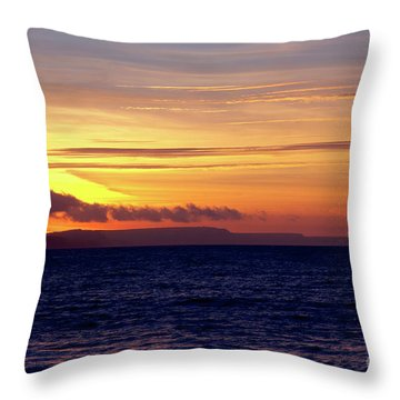 Weymouth To Purbeck Throw Pillow