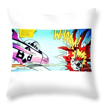 Whaam Throw Pillow