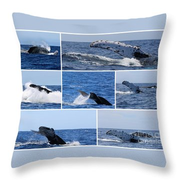 Whale Action Throw Pillow