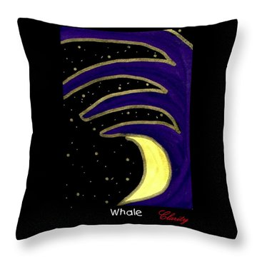 Throw Pillow featuring the painting Whale by Clarity Artists