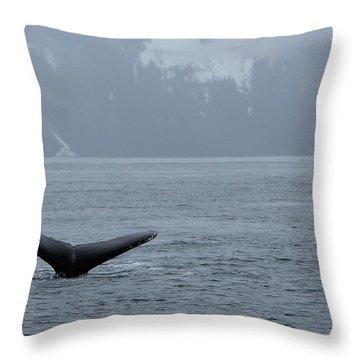 Whale Fluke Throw Pillow
