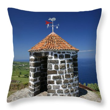 Whale Lookout Spot Throw Pillow by Gaspar Avila