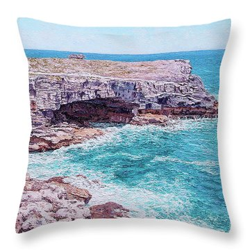 Whale Point Cliffs Throw Pillow