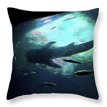 Whale Shark Of The Earth Throw Pillow