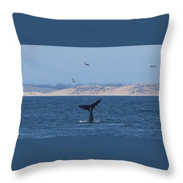 Throw Pillow featuring the photograph Whale Tail - 2 by Christy Pooschke