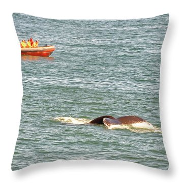 Whale Tail Throw Pillow