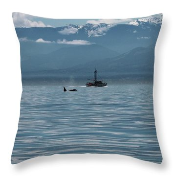 Save The Whales Throw Pillows