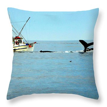 Whale Watching Moss Landing Series 26 Throw Pillow