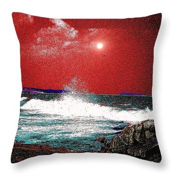 Whaleback At Peaks Island Maine Throw Pillow