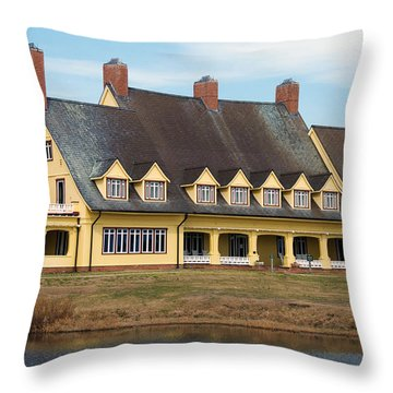 Whalehead Club Throw Pillow by Kelvin Booker
