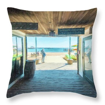 Whaler's Wharf Throw Pillow