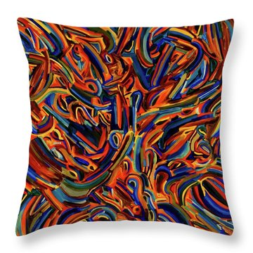 Whales And Dolphins Throw Pillow
