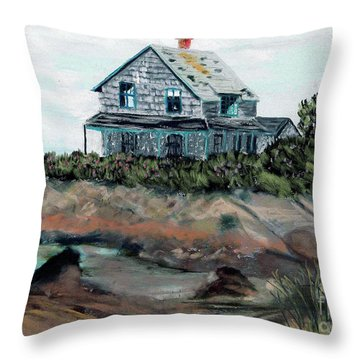Whales Of August House Throw Pillow
