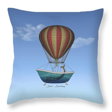 Throw Pillow featuring the digital art Seek Sanctuary by Galen Valle