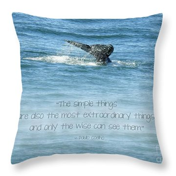 Throw Pillow featuring the photograph Whale's Tail by Peggy Hughes