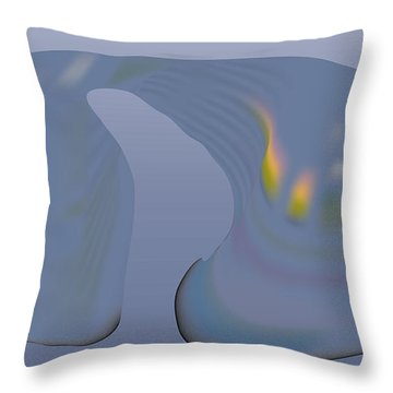 Whalescape Throw Pillow