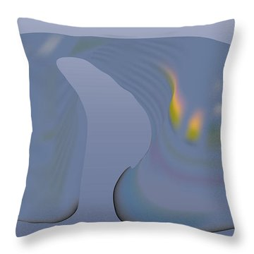 Whalescape Throw Pillow