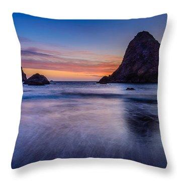 Whaleshead Beach Sunset Throw Pillow