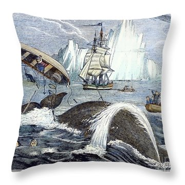 Whaling, 1833 Throw Pillow by Granger