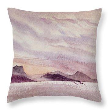 Whangarei Heads At Sunrise, New Zealand Throw Pillow
