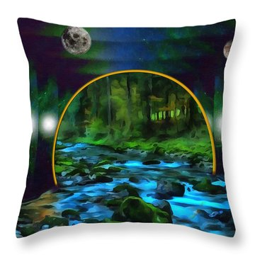 Whare Peaceful Waters Flow Throw Pillow