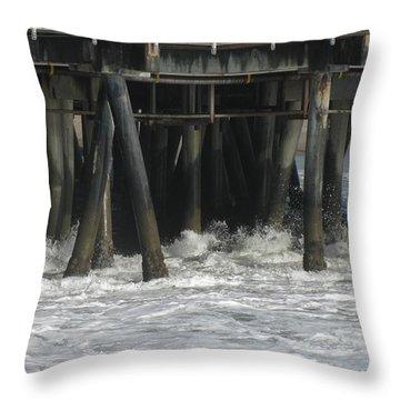 Wharf 2 Throw Pillow by Karen Sydney