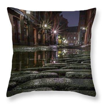 Wharf Street Cobblestones Throw Pillow