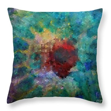 Throw Pillow featuring the digital art What A Bee Sees by Claire Bull