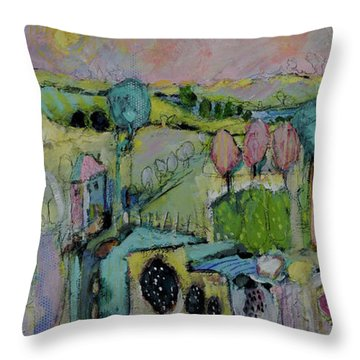 What A Bird Sees Throw Pillow by Sharon Furner