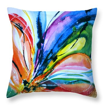 What A Fly Dreams Throw Pillow