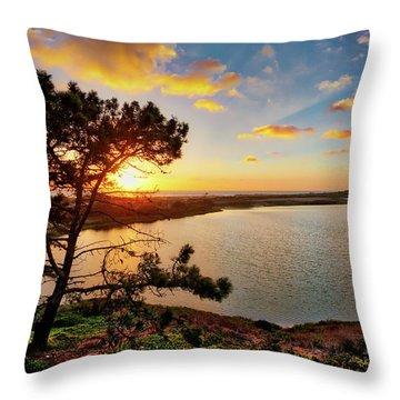 What A Glow At The Batiquitos Lagoon Throw Pillow