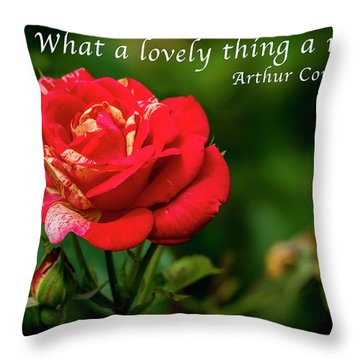 What A Lovely Thing A Rose Is Throw Pillow